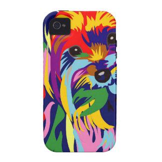 Arco iris Yorkie de la diversión Vibe iPhone 4 Funda