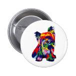 Arco iris Yorkie de la diversión Pin Redondo 5 Cm
