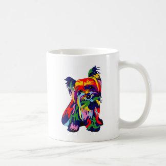 Arco iris Yorkie de la diversión Taza De Café