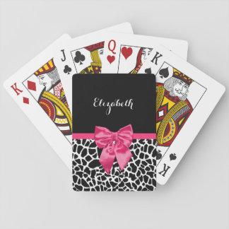 Arco lindo de las rosas fuertes del estampado de baraja de póquer