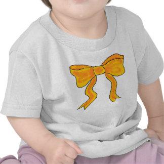 Arco lindo del amarillo anaranjado camisetas