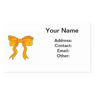 Arco lindo del amarillo anaranjado tarjetas de visita