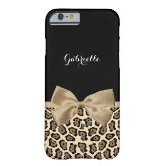 Arco lindo marrón claro femenino de Jaguar Brown Funda De iPhone 6 Barely There