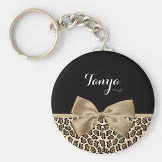 Arco lindo marrón claro femenino de Jaguar Brown Llavero Redondo Tipo Pin