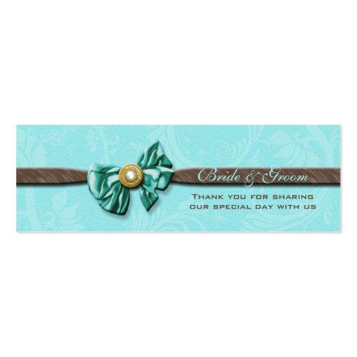 Arco marrón de la gema de la aguamarina azul flora plantillas de tarjetas personales