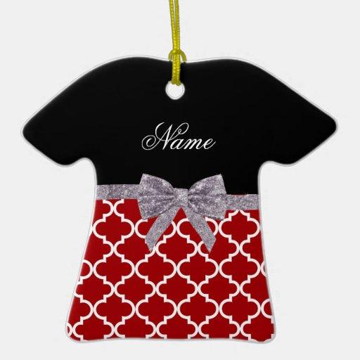 Arco marroquí rojo conocido de encargo de la plata adorno de cerámica en forma de camiseta