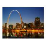 Arco Missouri de St. Louis en el Mississippi por Postal