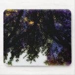 Arco Mousepad del árbol violeta y anaranjado Tapete De Raton