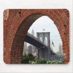 Arco Mousepad del ladrillo del puente de Brooklyn Alfombrillas De Ratón
