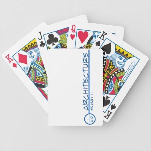Arco. Naipes del título del dibujo (azules) Cartas De Juego
