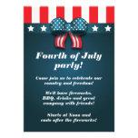 Arco patriótico lindo 4to de las invitaciones del  invitaciones personalizada