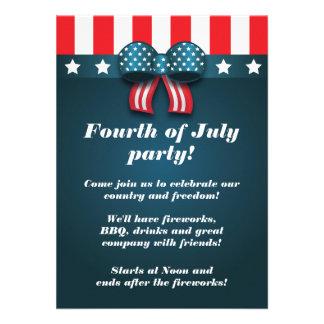 Arco patriótico lindo 4to de las invitaciones del