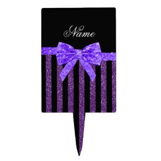 Arco púrpura conocido de encargo del brillo de las decoraciones de tartas