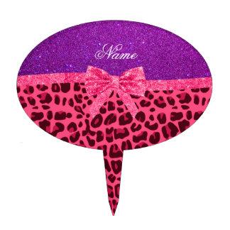 Arco púrpura conocido de encargo del leopardo del  palillos de tarta