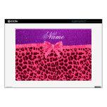 Arco púrpura conocido de encargo del leopardo del  portátil 38,1cm skins