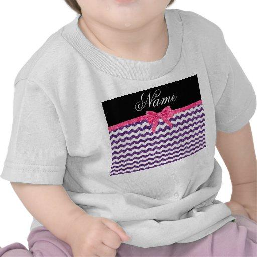 Arco púrpura conocido personalizado del rosa de camiseta