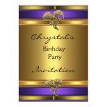 Arco púrpura de la joya del oro de la fiesta de anuncios personalizados