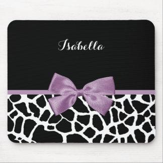 Arco púrpura de la lavanda linda del estampado de mouse pad