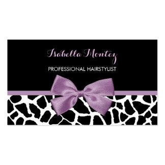 Arco púrpura de la lavanda linda del estampado de tarjetas de visita