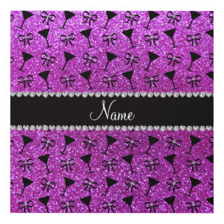 Arco púrpura de neón conocido del vidrio de cóctel cuadro