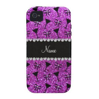 arco púrpura de neón conocido del vidrio de cóctel iPhone 4 fundas