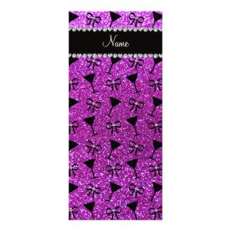 arco púrpura de neón conocido del vidrio de cóctel lonas personalizadas