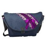 Arco púrpura del cordón del dril de algodón y del  bolsas messenger
