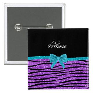 Arco púrpura en colores pastel conocido de la pin cuadrada 5 cm