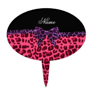 Arco púrpura personalizado del modelo rosado conoc decoración para tarta
