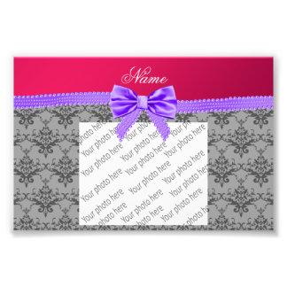 Arco púrpura personalizado del rosa gris conocido fotografias