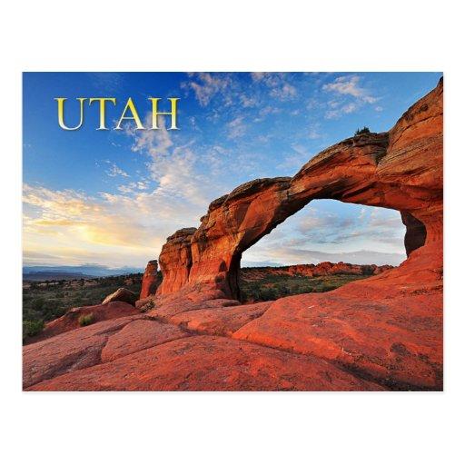 Arco quebrado, arcos parque nacional, Utah Postal