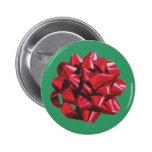 Arco rojo de la cinta pin redondo 5 cm