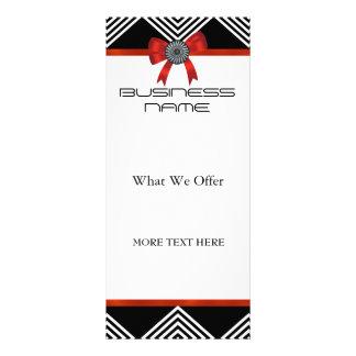 Arco rojo de la raya blanca del negro de la tarjet diseños de tarjetas publicitarias