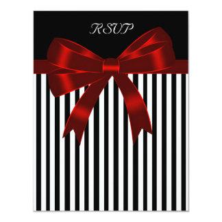 """Arco rojo de la raya negra que casa la tarjeta de invitación 4.25"""" x 5.5"""""""