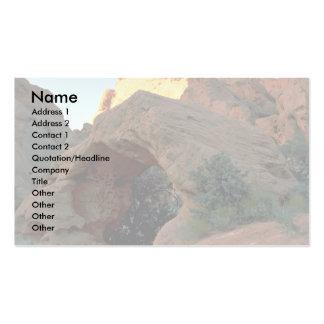 Arco rojo de la roca apenas al norte del huracán,  tarjetas de visita