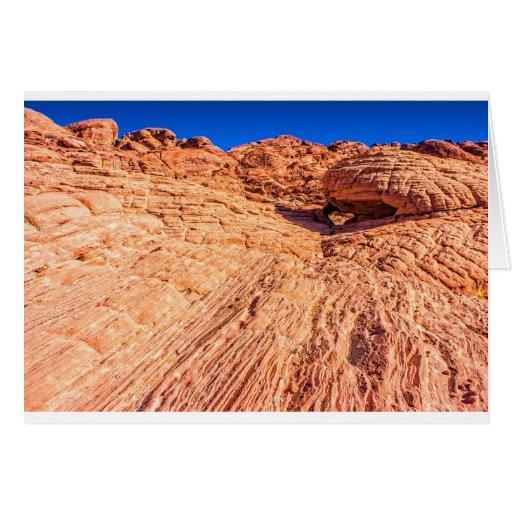 Arco rojo de la roca felicitaciones