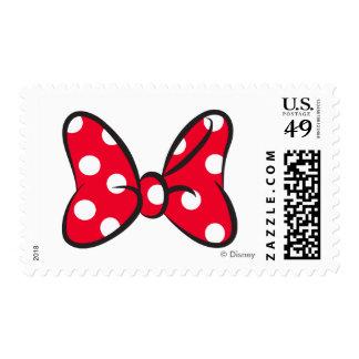 Arco rojo de moda del lunar de Minnie el | Sellos Postales