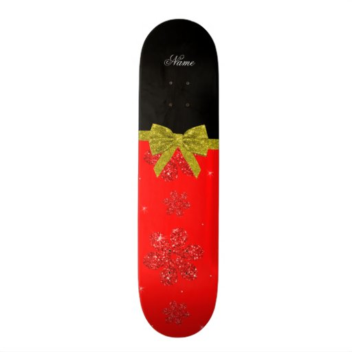 Arco rojo de neón conocido de encargo del oro de l patineta personalizada