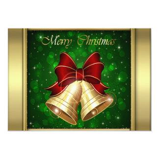 """Arco rojo de oro de Belces de navidad Invitación 5"""" X 7"""""""