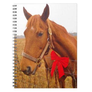 Arco rojo del caballo de Brown Libretas