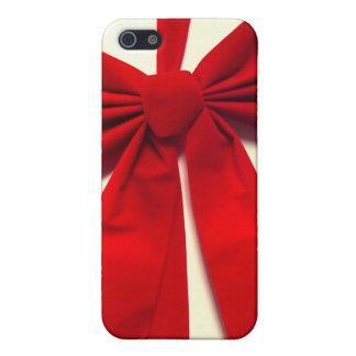 Arco rojo del navidad de la cinta iPhone 5 cárcasa