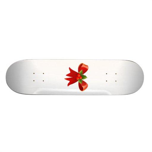 Arco rojo del navidad monopatin personalizado