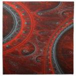 Arco rojo servilleta imprimida