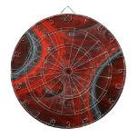 Arco rojo tabla dardos