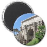 Arco romano del foro de Titus - Roma, Italia Imán Redondo 5 Cm