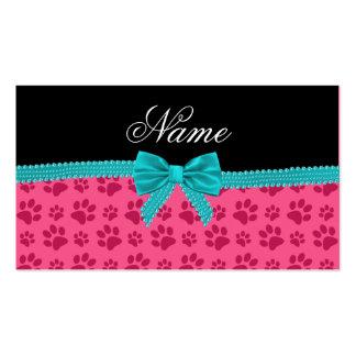 Arco rosado conocido de encargo de la turquesa de tarjetas de visita