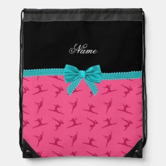 Arco rosado conocido personalizado de la turquesa  mochila