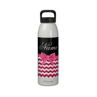 Arco rosado conocido personalizado de los galones botellas de beber