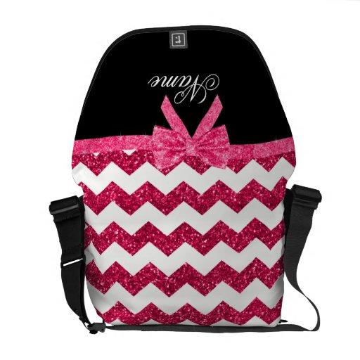 Arco rosado conocido personalizado de los galones  bolsa de mensajeria