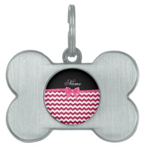 Arco rosado conocido personalizado de los galones  placas mascota